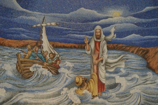 Ludzkość na wzburzonym morzu - foto