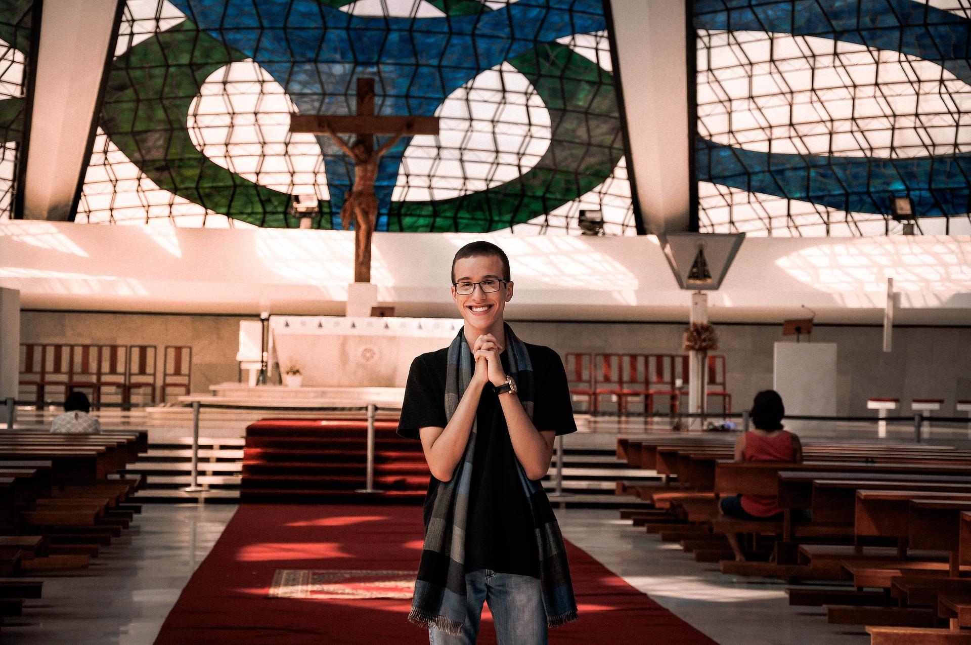 church offering prayer - HD1280×850